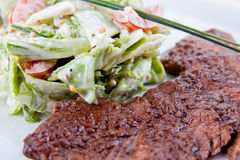 Meat with salad Royalty Free Stock Photography