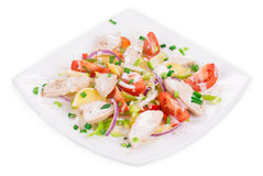 Meat salad with vegetables Royalty Free Stock Image