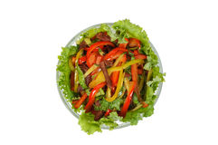 Meat salad with vegetables Royalty Free Stock Photography