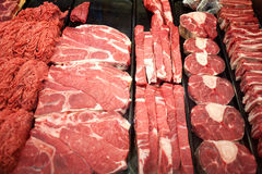 Meat for sale Royalty Free Stock Image