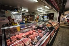 Butcher at Paloquemao Bogota Colombia Stock Photo