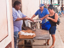 Meat sales. Town of Remedios. Cuba Stock Photos
