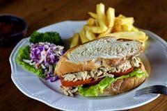 Meat sandwich Stock Photos