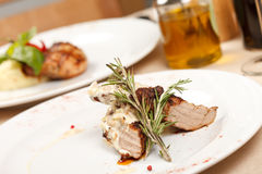 Meat with sauce Royalty Free Stock Photo