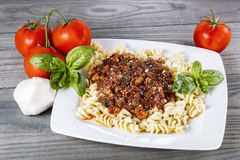 Meat sauce Pasta Stock Image