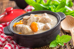 Meat in sauce with vegetables Royalty Free Stock Image