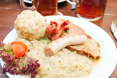 Meat and sauerkraut Royalty Free Stock Photo