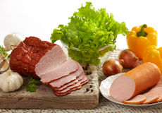 Meat and sausage Stock Photos