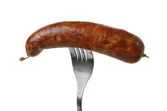 Meat-sausage. Assortment of sausages. Meat on the white background Royalty Free Stock Images