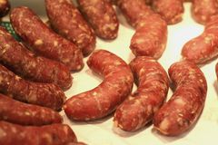 Meat sausage Stock Photography