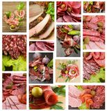 Meat and Sausages Collection Stock Photos
