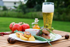 Meat sausages Royalty Free Stock Images
