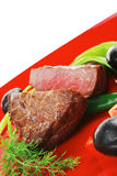 Meat savory : grilled beef fillet Stock Photos