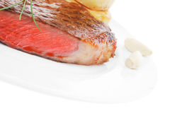 Meat savory : grilled beef fillet with tomato Stock Photo