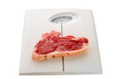 Meat scale Royalty Free Stock Photos