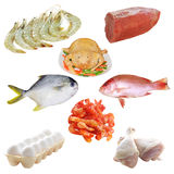 Meat and seafood Stock Photo