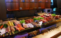 Buffet japan food Royalty Free Stock Photo