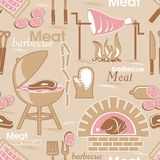 Meat seamless background Royalty Free Stock Images