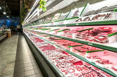 Meat section Royalty Free Stock Images