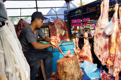 Meat seller Stock Images