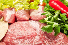 Meat set background stock photo
