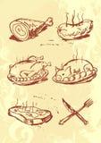 Meat Set Stock Image