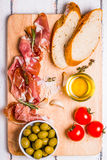 Meat set for a quick snack Stock Images