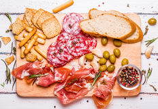 Meat set for a quick snack Royalty Free Stock Photos