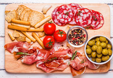 Meat set for a quick snack Stock Image