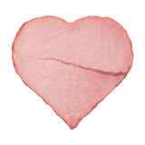 Meat in the shape of a heart with a scar Royalty Free Stock Photo