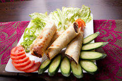 Meat shawarma plate Stock Images