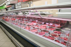 Meat in shop royalty free stock photos