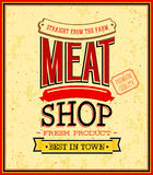 Meat shop design. Royalty Free Stock Photos