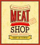 Meat shop design. Royalty Free Stock Photos