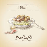 Meat sketch Stock Images