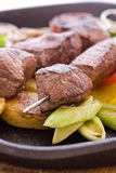 Meat Skewer Stock Image