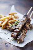 Meat skewer Royalty Free Stock Photography