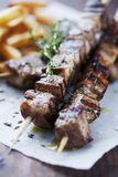 Meat skewer Royalty Free Stock Images