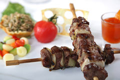 Meat skewers Royalty Free Stock Image