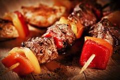 Meat Skewers Stock Photo