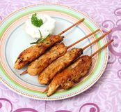 Meat skewers Royalty Free Stock Photo
