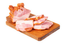 Meat sliced on cutting board Royalty Free Stock Image