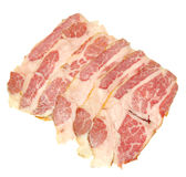 Meat slices Royalty Free Stock Photos