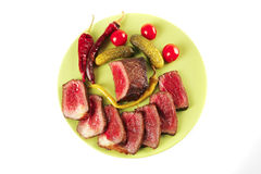 Meat slices and chunk Stock Photos