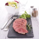 Meat slices Royalty Free Stock Images