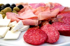 Meat snacks Stock Photography