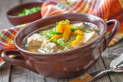 Meat soup stock image