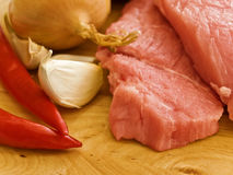 Meat with spices Royalty Free Stock Photography