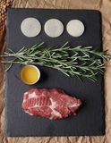 Meat and spices Royalty Free Stock Photo