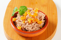 Meat spread with orange succade Stock Photography